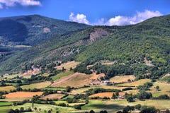 Wieś Monteleone Di Spoleto Zdjęcia Royalty Free