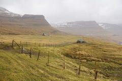 Wieś na Faroe wyspach Obrazy Royalty Free