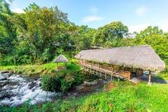 Wieśniaka most blisko Mindo, Ekwador Zdjęcia Stock