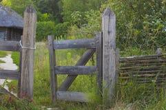 Wieśniaka ogrodzenia brama Zdjęcia Royalty Free
