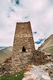 Wieża obserwacyjna Antyczny forteca Na Halnym tle Blisko Karatkau Fotografia Stock