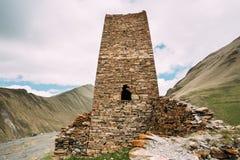 Wieża obserwacyjna Antyczny forteca Na Halnym tle Blisko Karatkau Obraz Stock