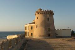 Wieża obserwacyjna - Torre De Los angeles Horadada, Murcia, Hiszpania Obrazy Royalty Free