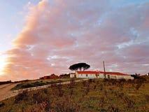 Wieś od Portugalia przy zmierzchem Obrazy Royalty Free