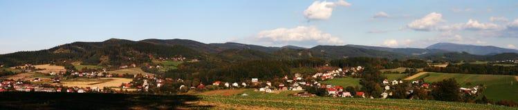 wieś panoramiczna zdjęcia royalty free