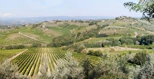 wieś patchwork Tuscan Obraz Stock