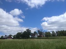 Wieś południowy Szwecja Obrazy Royalty Free