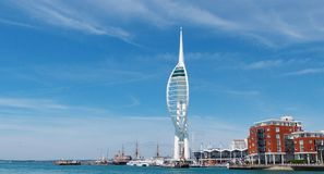 wieża spinnaker england Portsmouth Fotografia Royalty Free
