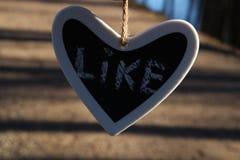 Wie unterzeichnen Sie herein Herz Lizenzfreies Stockfoto