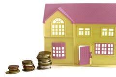 Wie viel Geld für das Bauen eines Landhauses Stockfotografie
