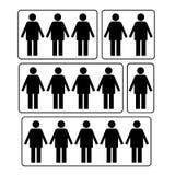 Wie viel Personensymbol lizenzfreie abbildung