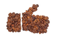Wie von Kaffeebohnen Stockbild