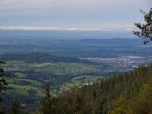 Wieś - Wiejski niemiec krajobraz Obrazy Royalty Free