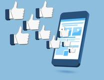 Wie wir Symbol auf Smartphonekonzepten Lizenzfreie Stockfotos