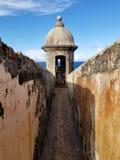 Wieżyczka przy Castillo San Cristobal w San Juan, Puerto Rico Histo Zdjęcie Stock