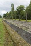 Wieża obserwacyjna dzisiaj i perymetr Koncentracyjny Dachau obóz Obrazy Stock