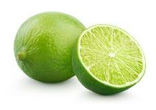 Świeża wapno cytrusa owoc z połówką Fotografia Stock
