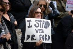 Wiec dla Dr Blasey Ford obrazy royalty free