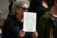 Wiec dla Dr Blasey Ford fotografia royalty free