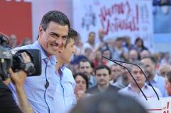 Wiec Hiszpański Socjalistyczny Pracowniczy przyjęcie (PSOE) obraz royalty free