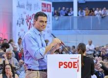 Wiec Hiszpański Socjalistyczny Pracowniczy przyjęcie (PSOE) obrazy stock