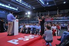 Wiec Hiszpański Socjalistyczny Pracowniczy przyjęcie (PSOE) zdjęcia stock