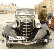 Wiec klasyczni samochody, Moskwa Zdjęcie Stock