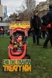 Wiec Przeciw dziecko torturze & zatrzymaniu zdjęcia royalty free