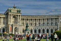 Wiec przed Hofburg pałac fotografia royalty free
