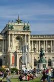 Wiec przed Hofburg pałac zdjęcie royalty free