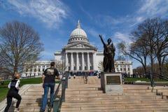 Wiec przy Capitol budynkiem obraz royalty free
