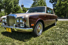 Wiec Rolls Royce i inni luksusowi samochody w Asheville Pólnocna Karolina usa Zdjęcia Stock