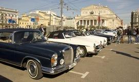 Wiec starzy samochody, Moskwa fotografia stock