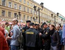 Wiec w poparciu dla Alexei Navalny zdjęcia stock