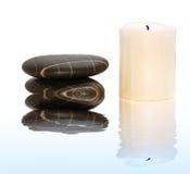 świeca spa kamienie Zdjęcia Stock