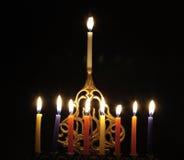 świece chanuka Fotografia Royalty Free