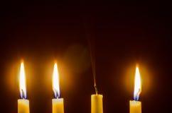 świece mroczne Fotografia Stock