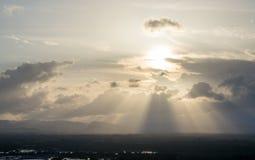 Wieczór światło słoneczne w Chumphon, Tajlandia Zdjęcia Stock