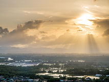 Wieczór światło słoneczne w Chumphon, Tajlandia Zdjęcie Royalty Free