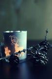 Wieczór świeczki szkła rożek Zdjęcia Stock
