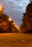 Wieczór Alei Park Zdjęcie Stock
