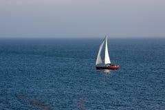 wieczór atlantycki łódkowaty ocean Obrazy Royalty Free