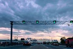 Wieczór autostrada. Zdjęcie Royalty Free
