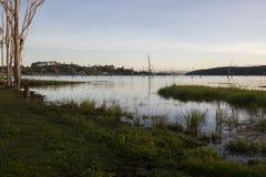 Wieczór brzeg jeziora Zdjęcie Stock