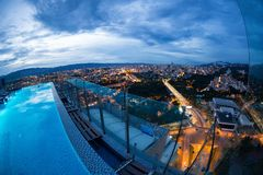 Wieczór Bucaramanga widok Fotografia Stock