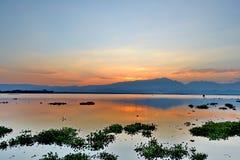 Wieczór cień w lagunach I niebo Zdjęcie Royalty Free