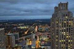 Wieczór Comute w Atlanta Gruzja Obraz Royalty Free