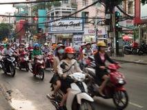 Wieczór dojeżdżającego pośpiech w Ho Chi Minh, Wietnam Obraz Royalty Free