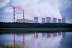 wieczór elektrownia Zdjęcie Stock