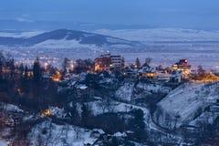 wieczór gór s zmierzchu ural zima Obrazy Royalty Free